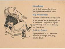 Uitnodiging Corvey tentoonstelling (1949)