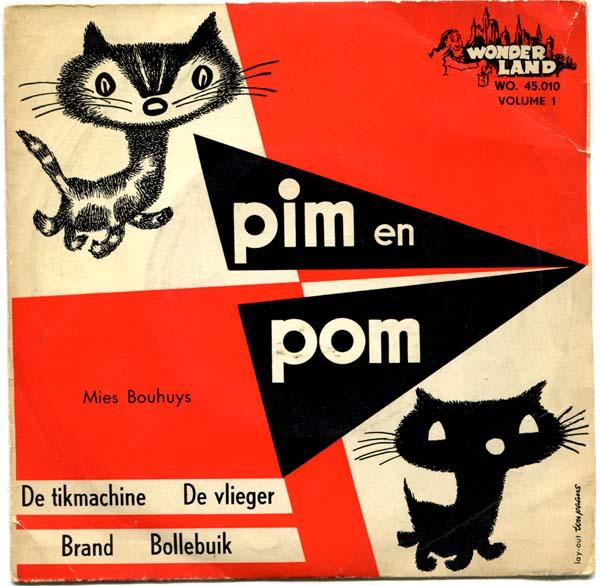 1960-Pim en Pom vol 1 De tikmachine grammofoonplaatje